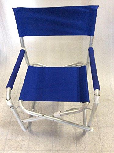 Sedia da regista in alluminio sedia da campeggio pieghevole leggero pieghevole nero o blu