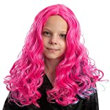 Child Girls Long Wavy Pink and Blue Curly...