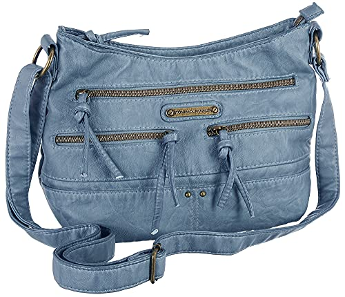Stone Mountain Boat Shoulder Hobo Handbag One Size Denim blue