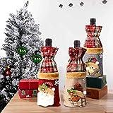 Navidad Funda para Botella de Vino Papá Noel Elk Santa Muñeco De Nieve patrón Cubierta de la Botella de Vino de Regalo Bolsas para Decoración Hogar de la Mesa de Cena para las Fiestas de Navidad