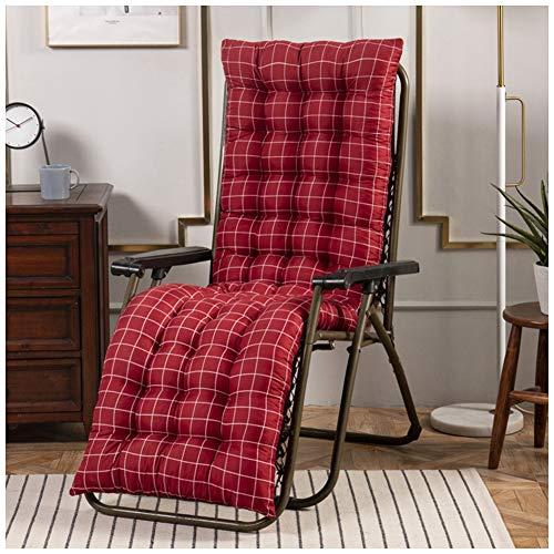 YOUCAI Auflage für Deckchair Liege-Stuhl Polster-Auflage Weich Und Bequem Dicker Bezug für Den Außengebrauch,48x155cm,Rot 1