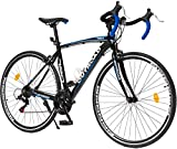 PanAme Aluminum Road Bike 700C Wheels 21 Speed Drivetrain Hybrid Bicycles with Y Brake, Racing...