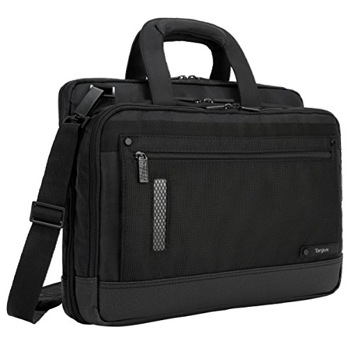 Targus Revolution Travel Topload 15' Laptop Briefcase for Business Professional with Checkpoint-Friendly TSA Screening, Zip-down Workstation Accessory Pockets, Trolley Strap, Black (TTL416US)