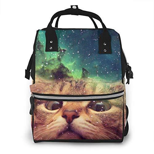 Star Cat Sac à Couches de Mode Imperméable Multifonction Sac à Dos de Voyage Grand Sac à Langer Sacs Maman Sac à Dos pour Soins de Bébé