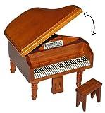 Unbekannt Miniatur Konzert Flügel Klavier mit Hocker - Holz Maßstab 1:12 - aufklappbar - Möbel...