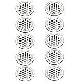 Xinlie 10 Piezas Rejillas Ventilacion Redondas Acero Inoxidable Agujero de Ventilación Rejilla de Ventilación Accesorios de Gabinete para Gabinete Guardarropa Gabinete del Zapato (19mm)