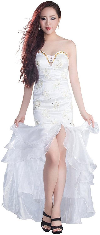 BessWedding 2016 Women's Long Sweetheart Beaded Prom Dresses with Split