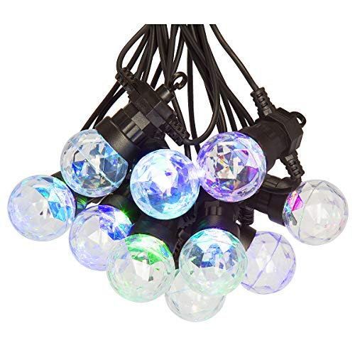 CLAS Ohlson  Outdoor String Lights RGB LED Disco Colour Changing Globe Lights with 10 Bulbs, Indoor Outdoor Hanging String Lights for Patio Garden Backyard Gazebos Party Decoration 9 m