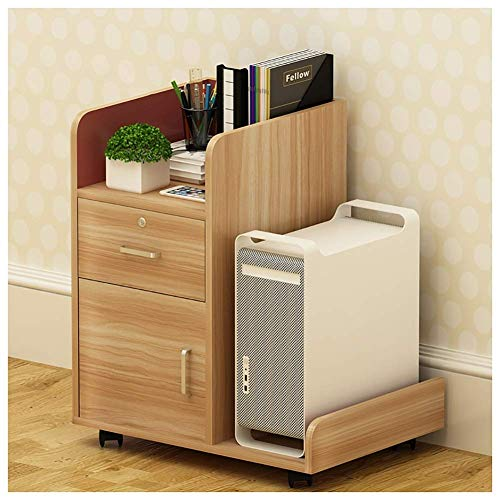 Archiefkast van hout, kast met 3 laden, archiefkast met laden, archiefkast met blokkeerdesign voor A4-archivering, verticale archiefkasten voor kantoor (kleur: #2)