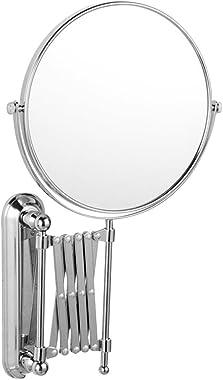 WINOMO Magnifying Wall Mount Makeup Mirror Two-Sided Retractable Bathroom Mirror 360 Degree Swivel Vanity Mirror Chrome 6 Inc