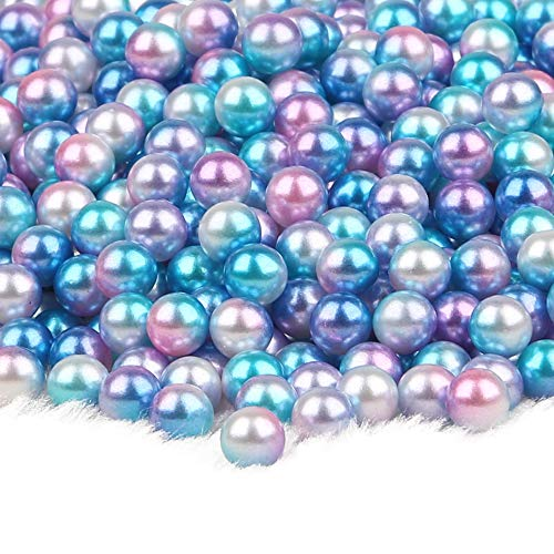 MOMOFULL Undrilled Pearl Beads Assorted Sizes Vase Fillers Loose Bead No Hole for Crafting Decoration Jewelry Making