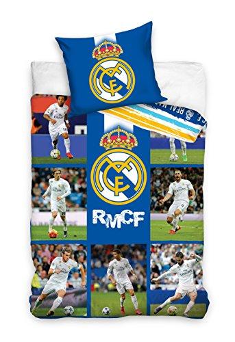 Oeko -Tex-100% Coton Real Madrid Linge de lit housse de coue