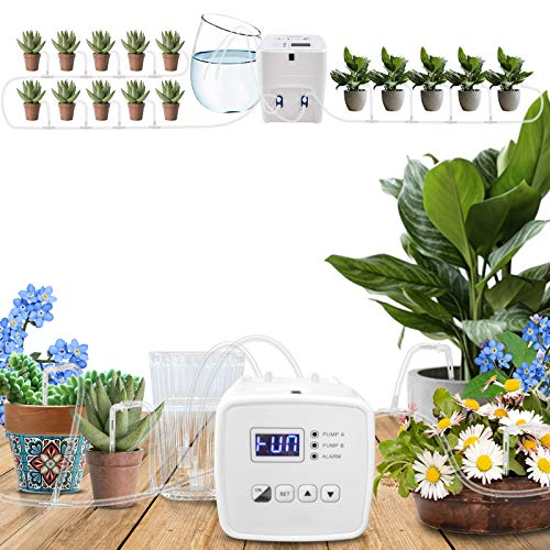Leiting Automatic Irrigation System Double pump, Indoor Plant Watering System with Electronic Water...