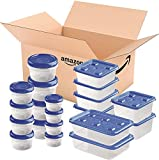 Ziploc Twist 'n Loc & One Press Seal, Storage Containers for Food, Travel and Organization, Dishwasher Safe, 40 Count (Variety Pack)