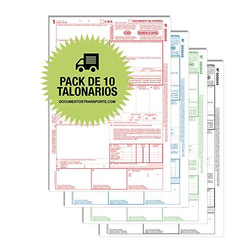 Pack 10 Talonarios CMR Autocopiativos - 4 copias Numeradas