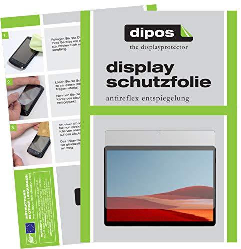 dipos I 2X Schutzfolie matt kompatibel mit Microsoft Surface Pro X Folie Bildschirmschutzfolie