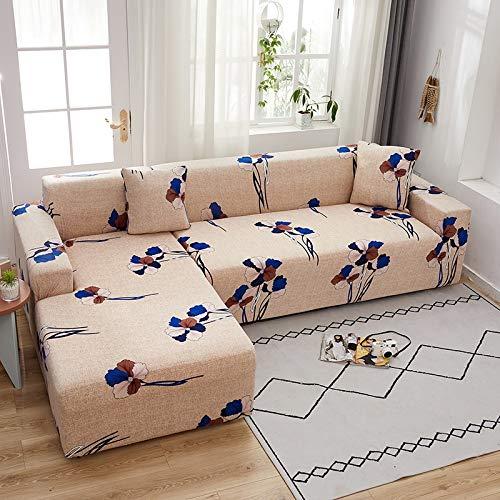 PPMP Elastische Stretch-Sofabezug, verwendet für Spandex-Sofabezug im Wohnzimmer, Sofabezug, Stretch-Sofatuch, L-Form, Sofabezug A18 2-Sitzer