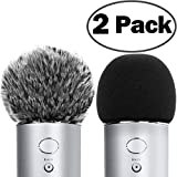 ChromLives Microphone Cover for Blue Yeti Furry Windscreen +Foam Cover Compatible with Blue Yeti, Yeti Pro Condenser (Furry & Foam Combo 2Pack)
