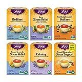 Yogi Tea - Stress Relief and Herbal Tea Variety Pack Sampler (6 Pack) - 96 Tea Bags