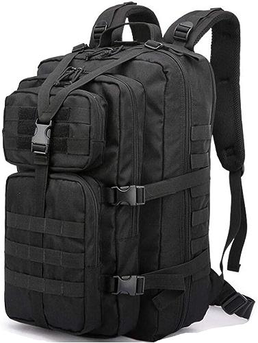 LXYIUN Randonnée Trekking,Extérieur Camouflage Tactiques Alpinisme Backpack Noir
