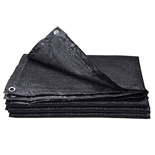 HTDZDX Sombra Tela Sunblock Sombra Net UV Negro Resistente con Ojales for pérgola Techo de Cubierta, Jardín Tapa de Lona de Malla Top for Flores Plantas Patio Césped (Size : 2 * 2M)
