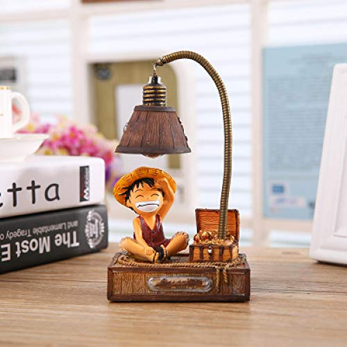 Night Light Cartoon Night Lamp Japanese Anime Toys Small Night Lights Resin Ornaments Crafts Lamp Creative Night Light Gift Luffy