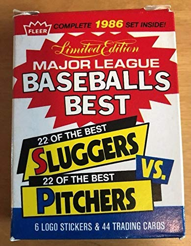 Fleer Complete 1986 Major League Baseball Best 22 of the Best Sluggers Vs 22 of the Best Pitchers
