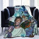 JUJ® Lil-Uzi Vert Rapper Ultra-Soft Cozy Micro Fleece Manta Manta de Lujo para sofá para Adultos y niños (204 cm x 153 cm)-60'x 50'