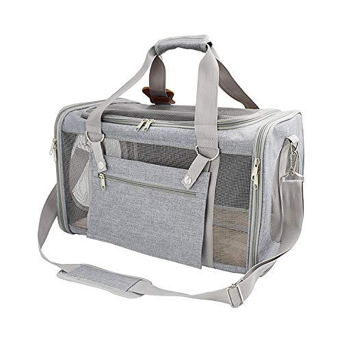 Nieuwe autokatten-buidel-speelruimte-breathable beweegbare huisdier-tas - Breathable ruimte-rugzak 47 x 27 x 28 cm Light Gray