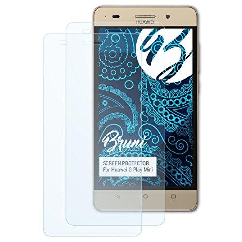 Bruni Schutzfolie kompatibel mit Huawei G Play Mini Folie, glasklare Bildschirmschutzfolie (2X)