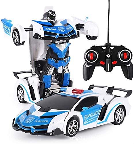 Transformers Juguetes, Control remoto Coche 2 en 1 Control remoto Coches para niños Niños Edades 5-12 Deformación Robot RC Coche para niños Niños Niños Navidad Cumpleaños Chicas TR  Nsform Cars Jugue