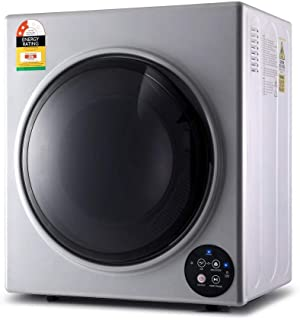 Devanti 6kg Tumble Dryer Clothes Dryer Vented Full Automatic Wall Mountable Silver