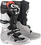 Alpinestars Unisex-Adult Tech 7S Boots Black/Silver/White/Gold Sz 07 (Multi, one_size)