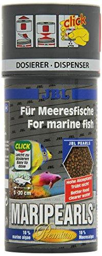 JBL MariPearls Click 250 ml, Granulado Principal de Alimentos para Peces Marinos, con dosificador Click