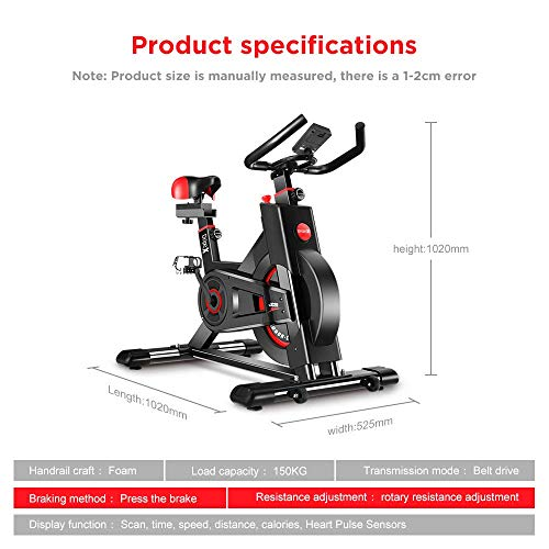 Dripex-Upright-Exercise-Bikes-Indoor-Studio-Cycles-Studio-Quality-with-Heart-Rate-Monitor-Large-Bidirectional-Flywheel-Belt-Drive-Infinite-Resistance-LCD-Displays-Hand-Pulse2019-Mode