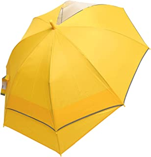 キッズ 傘 無地 伸びる傘 鞄が濡れにくい スライド 傘 小学生 通学 ジュニア 透明窓 小学校 55cm 男の子 長傘 シンプル 雨傘 キッズ 軽量