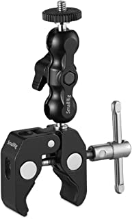 SMALLRIG Multi-Functional Ballhead Clamp Double Ball Adapter with Bottom Clamp and Standard 1/4 Screw - 2164