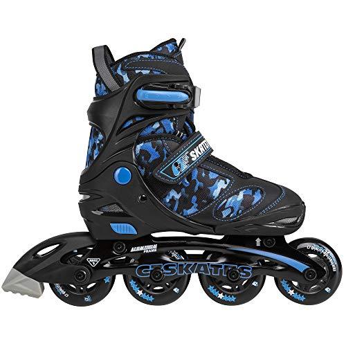 C SEVEN C7skates Adjustable Inline Skates for Youths (Camouflage Blue,...