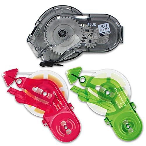 プラス テープのり ノリノハイパー 2種類の詰替テープ+本体セット トライアルパック 38836