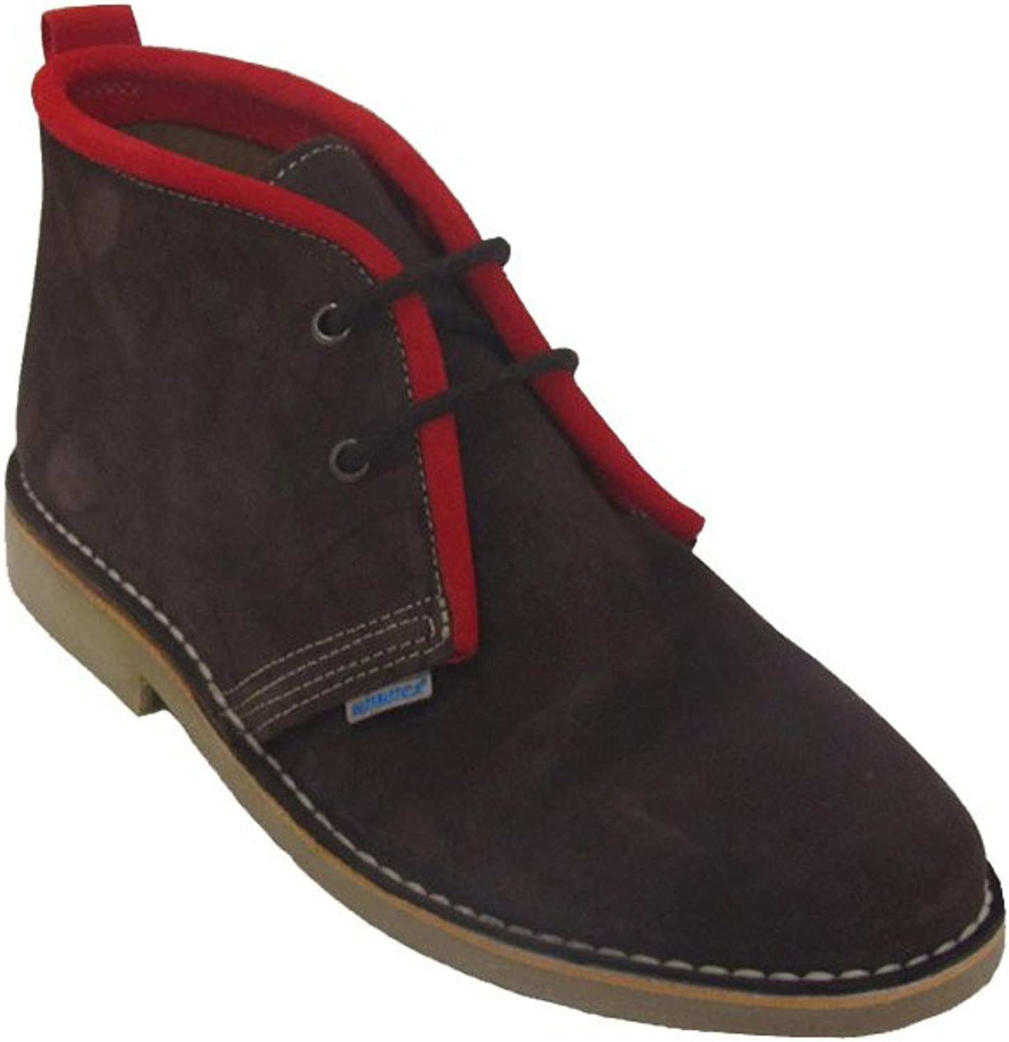 La Auténtica K100R - Desert Boot Italian tip Coloured Ribbon, Unisex Adult, Brown Chocolate - red