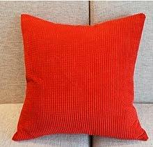 leisial Corn Kernels funda de cojín almohada en Corduroy Throw almohadas para decoración hogar y Hotel sofá 45x 45cm, rojo, 45*45CM