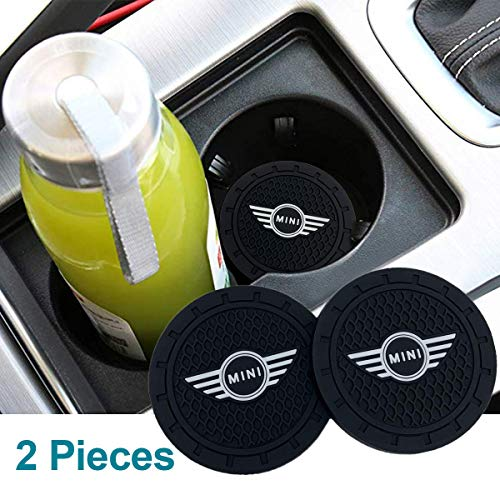 Wall Stickz Auto Sport 2.75 Inch Diameter Oval Tough Car Logo Vehicle Travel Auto Cup Holder Insert Coaster Can 2 Pcs Pack Fit Mini Accessories