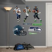 "Main product decal size is 52""W x 39.5""H Ideal for decorating any room in the home or office; safe for painted walls and other smooth surfaces! Just peel, stick and impress, it's that easy. No tape or tacks required. Fathead offers a thick high-grade..."