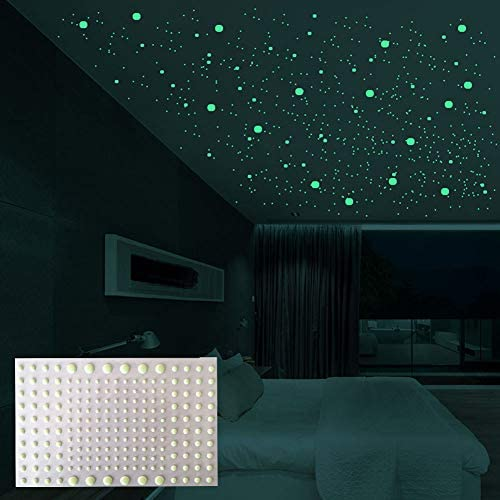 MOFIT Luminous Dot Wall Stickers Glow on Dark Walls Luminous Wall Ceiling Stickers for Home product image