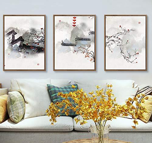 ZSHSCL Canvas printen, Chinese klassieke pruik canvas schilderij Moderne kunst poster afdrukken Wall Art Afbeelding voor woonkamer slaapkamer keuken Home Decor 40×50cm
