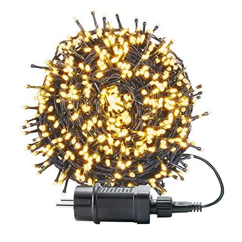 UISEBRT 100m 1000 LED Lichterkette Außen Innen Dekoration für Weihnachten, Ostern, Halloween, Hochzeit, Party, mit 8 Leuchtmodi, Wasserdicht IP44 (100m 1000LED, Warmweiß)
