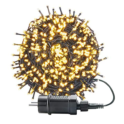 UISEBRT 50m 500 LED Lichterkette Außen Innen Dekoration für Weihnachten, Ostern, Halloween, Hochzeit, Party, mit 8 Leuchtmodi, Wasserdicht IP44...