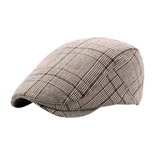 Leisial Sombreros Gorras Boinas Gorra de Béisbol Ocio Retro Clásico del Algodón Gorra de Deport Hat Flat Cap Primavera Verano para Hombre (Color - 2)