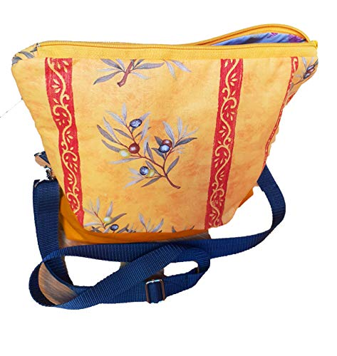 Handmad Damen Handtasche, Milow, Umhängetasche, Tasche, gelb-orange-bunt Mediteran
