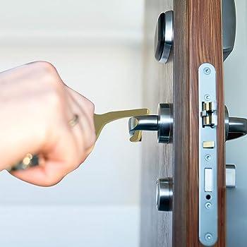 para Abrir//Cerrar Puerta Mantenga Las Manos Limpias dorado el Elevador Hacer Clic Bot/ón la Oficina para el Hogar 4 Piezas Abridor de Puertas Sin Contacto Llaves de Mano Sin Contacto